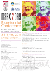 Marx2Day, Bicentennial Conference, Milan, May 2-3-4