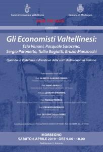 Gli Economisti Valtellinesi. Morbegno, 6 aprile 2019